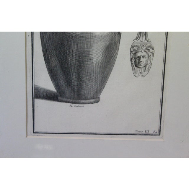 Early 18th Century Antique Urns and Vases of Ancient Times Engraving Print For Sale - Image 4 of 7