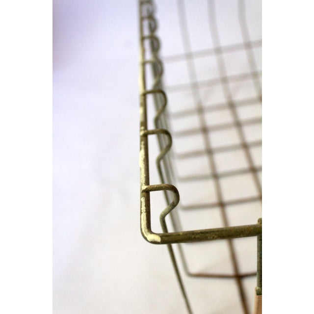Vintage Mid Century Wire Basket For Sale - Image 12 of 13
