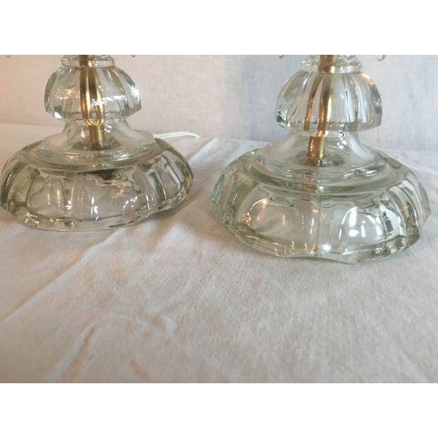 Cranberry Glass Hurricane Lamps - A Pair - Image 8 of 8