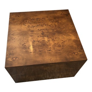 Burl Wood Coffee Table in the Style of Milo Baughman For Sale
