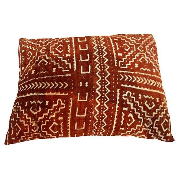 Malian Mud Cloth Pillow - Image 5 of 6