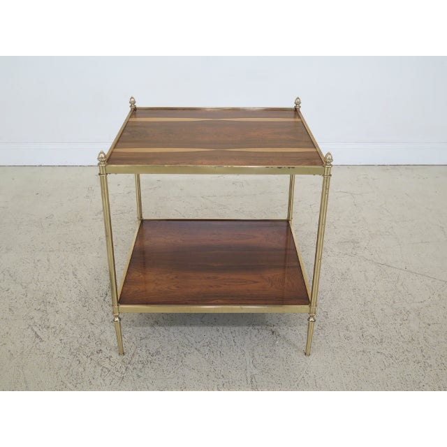 1990s Vintage Baker Rosewood & Brass Directoire Occasional Table For Sale - Image 11 of 11