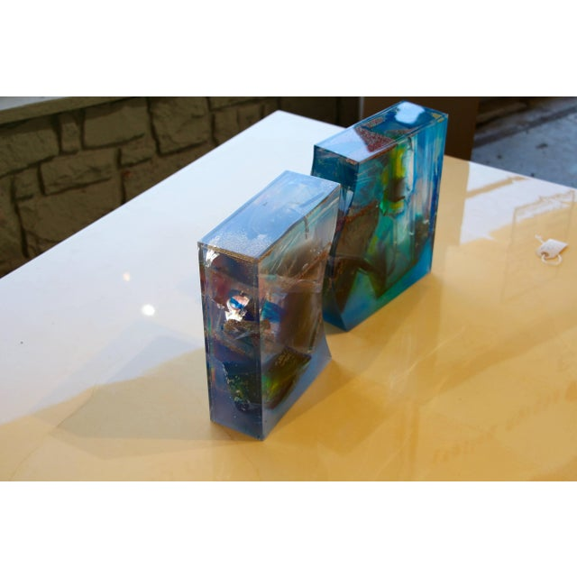 1990s Bijan Bahar Lucite and Epoxy Resin Sculpture Yin Yang For Sale - Image 5 of 10
