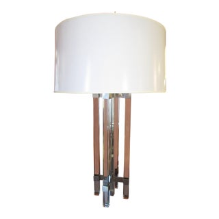 Fontana Arte 1954 Glass and Nickel Lamp