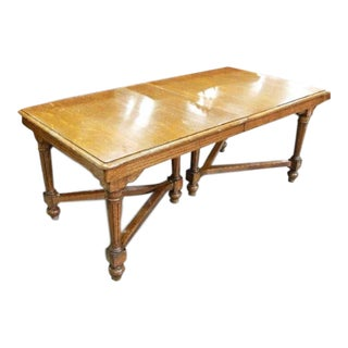 Solid Oak Extension Dining Table For Sale