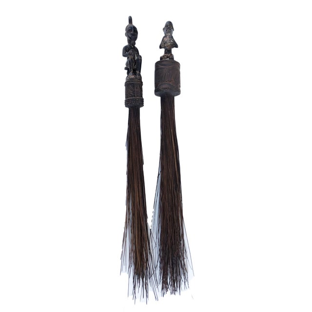 African African Baule Brooms with Figures - a Pair For Sale - Image 3 of 10