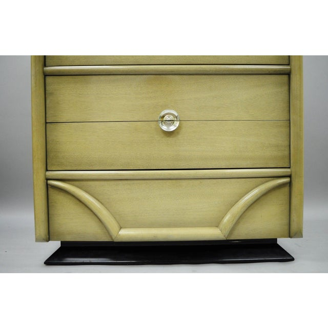 Vintage Tri-Bond Mid Century Modern Bone Dresser Chest Art Deco Gilbert Rohde Era For Sale - Image 9 of 11
