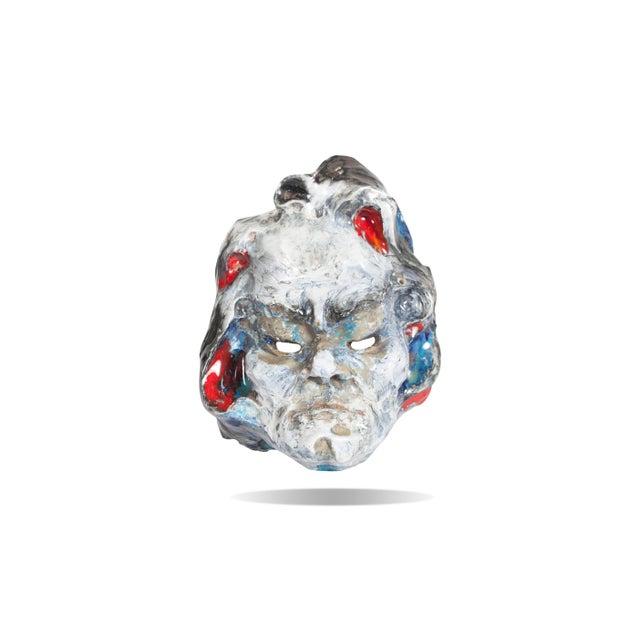 Ceramic Set of Four Ceramic Masks, Fontana, Italy For Sale - Image 7 of 8