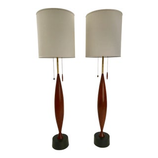 Pair of Monumental Heifetz Table Lamps For Sale