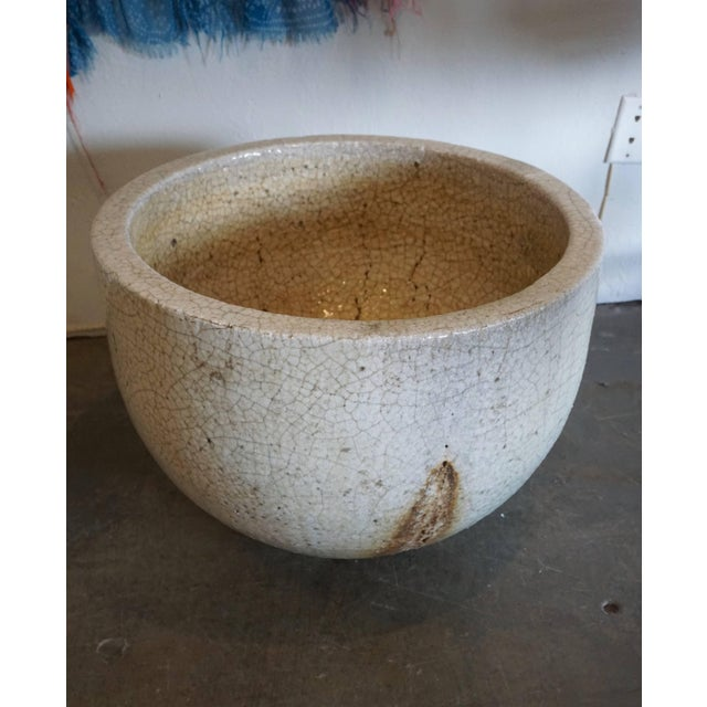 Glass Crackled Glaziers Crucible Planter For Sale - Image 7 of 8