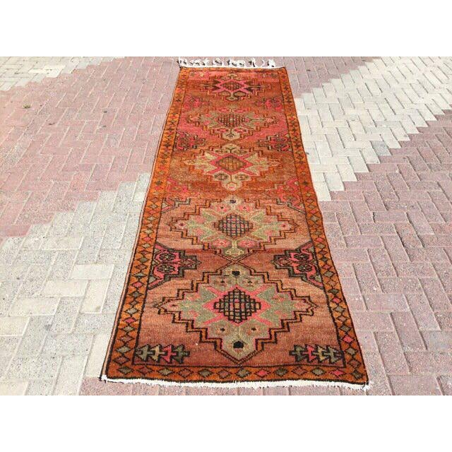 Vintage Turkish Runner Rug - 3′6″ × 10′10″ - Image 2 of 7