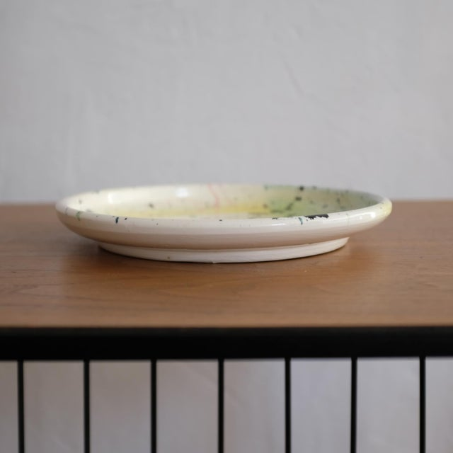 1980s Postmodern Peter Shire Ceramic Plate 1980 Memphis For Sale - Image 5 of 8