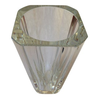 1980s Baccarat Diane Crystal Vase For Sale