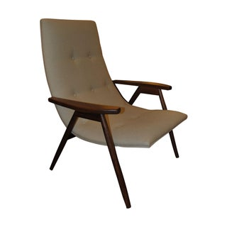 Alan Gould Eggshell Chair for Thayer Coggin For Sale