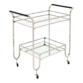 Modernist Chrome Bar Cart For Sale