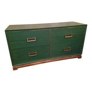 Ming Style Emerald Green Mahogany Chest of Drawers