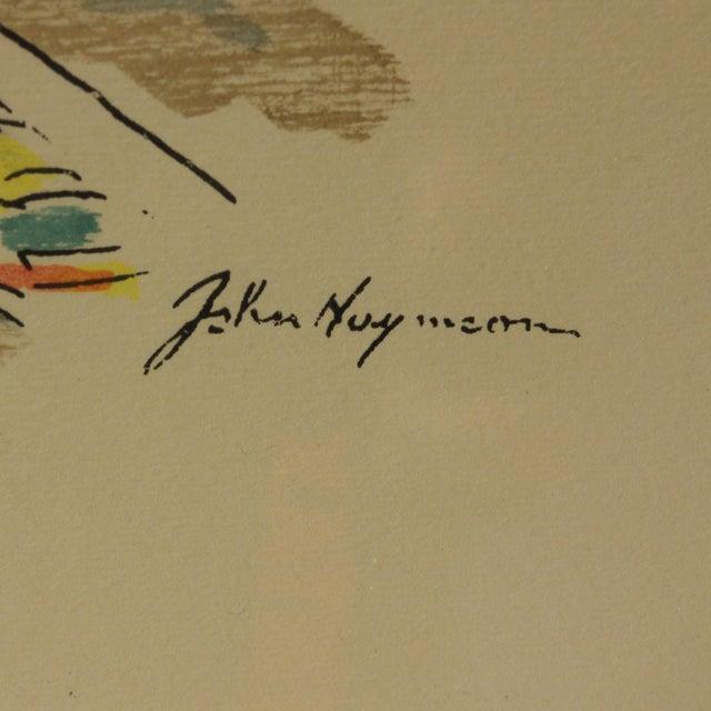 "1960s Vintage John Haymson Mid Century Modern Framed Print ""Boulevard Bridge, Chicago"" For Sale - Image 4 of 8"