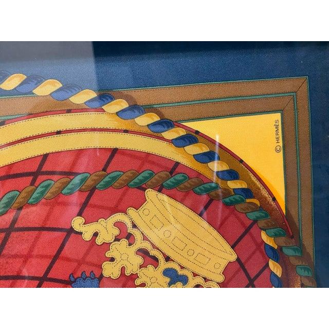 1990s Professionally Framed Hermes Scarf For Sale - Image 5 of 9
