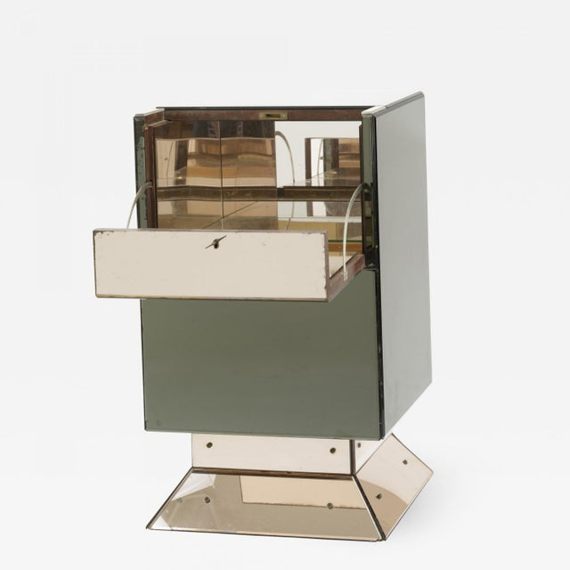 Hollywood Style Mirrored Opening Bar For Sale - Image 6 of 6