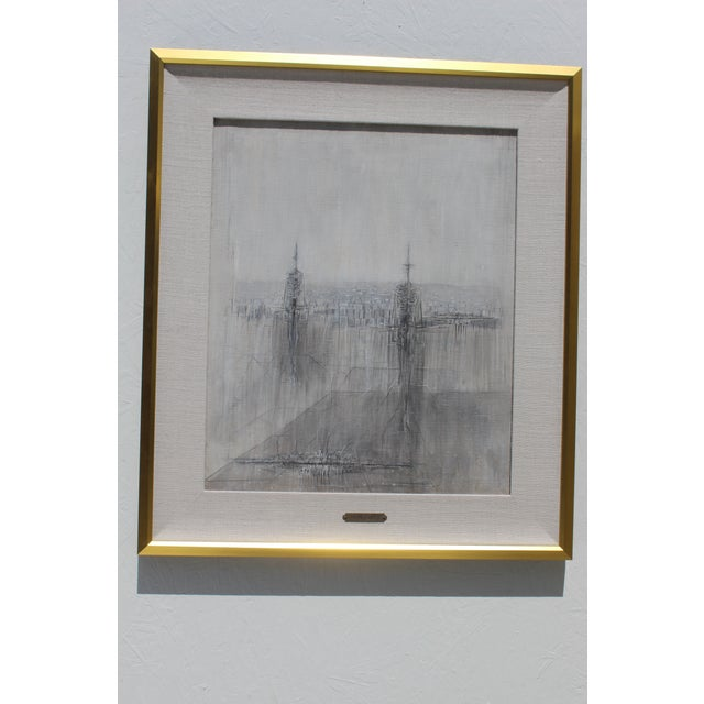 Italian Italian Modernist Painting by Cesare Peverelli For Sale - Image 3 of 9