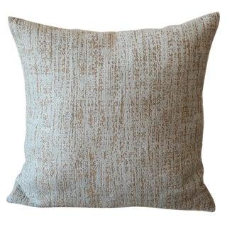 Chenille Velvet Abstract Blue Pillow For Sale