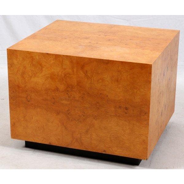 Mid-Century Olive Burl Pedestal Table - Image 2 of 7