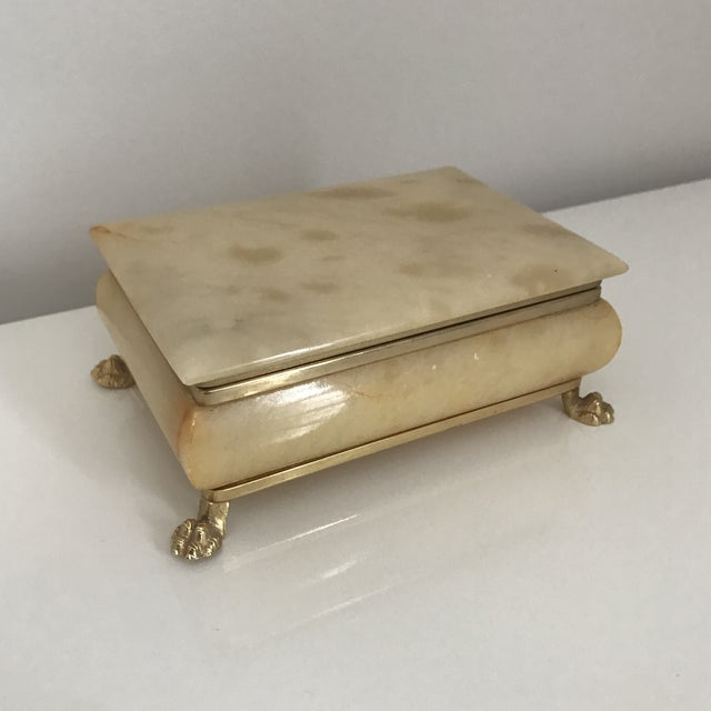 Vintage Italian Onyx Box For Sale In Minneapolis - Image 6 of 6