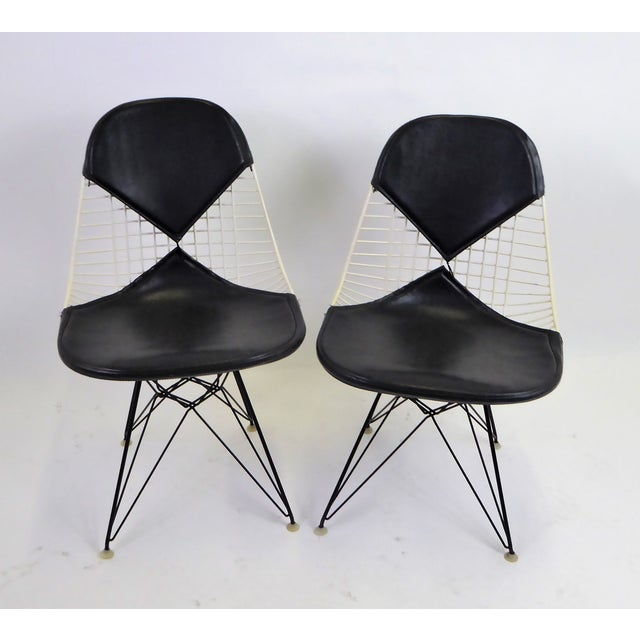 1950s Eames for Herman Miller DKR Bikini Chairs With Eiffel Base - a Pair For Sale - Image 13 of 13