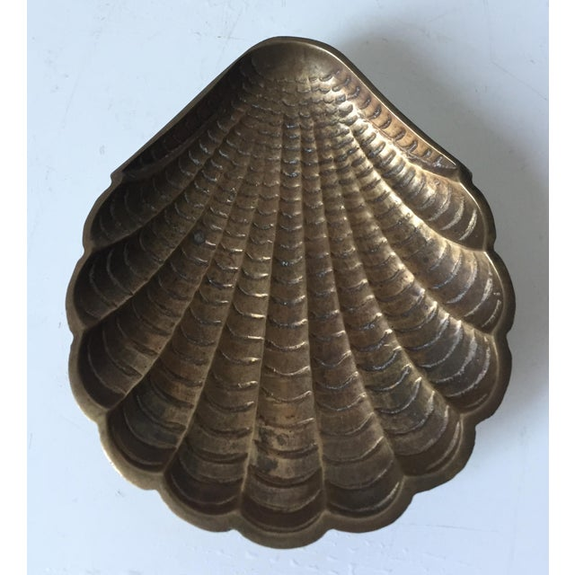 Vintage Brass Shell Dish - Image 6 of 6