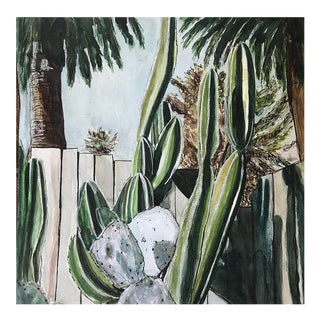 "Sophie Hoad Halma Original ""I'm Sort of a Cactus Myself"" Watercolor Illustration For Sale"