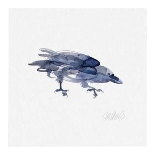 Premium giclee print of crow