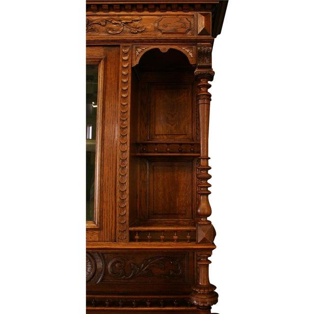 Brown Antique Belgian Renaissance Buffet For Sale - Image 8 of 8