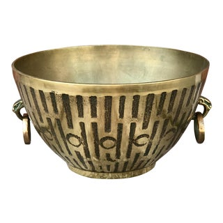 Brutalist Style Mid-Century Brass Bowl For Sale