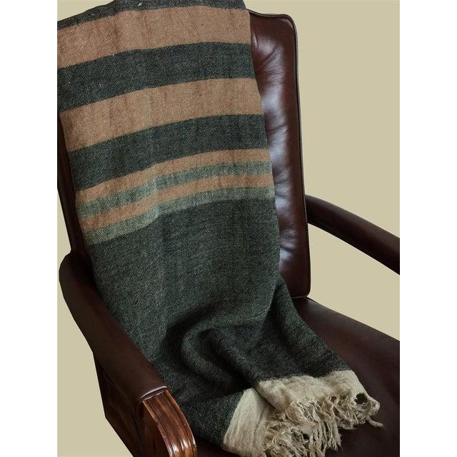 Linen Belgian Black Stripe Towel For Sale - Image 7 of 10