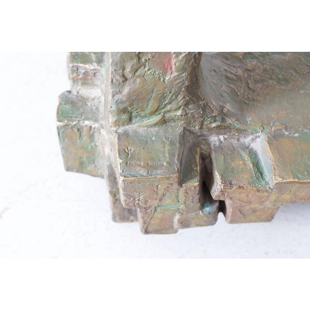 Unique Pair of Brutalist Bronze Side Tables in the Manner of Paul Evans For Sale - Image 6 of 7