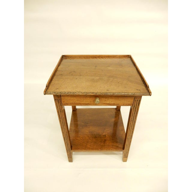 Wood Early 19th Provincial Walnut Side Table For Sale - Image 7 of 7