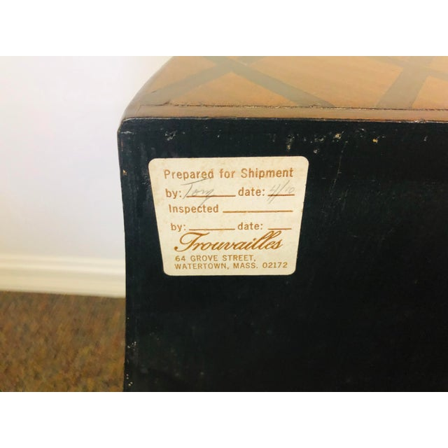 Vintage Trouvailles Bombe Style Dresser For Sale - Image 10 of 11