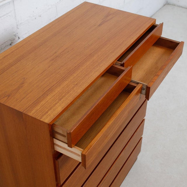 Vinde Mobelfabrik Danish Modern 10-Drawer Dresser For Sale - Image 5 of 10