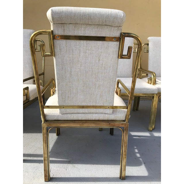 1970s Mastercraft Greek Key Dining Chairs - Set of 6 For Sale - Image 5 of 8