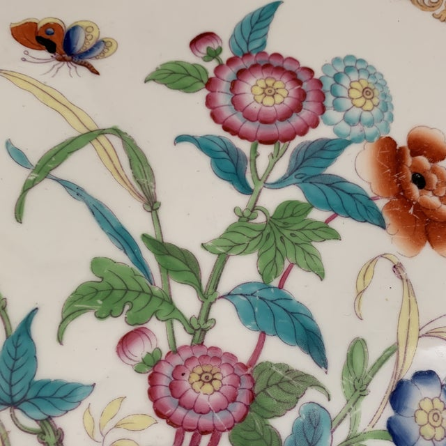 Minton Antique English Minton Chinoiserie Platter For Sale - Image 4 of 8