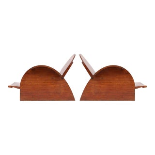 Adjustable Mahogany Lounge Chairs