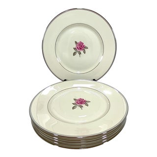 Gladding McBean Franciscan Huntington Rose Dinner Plates - Set of 6 For Sale