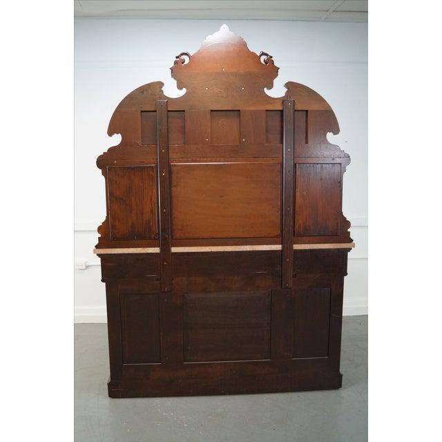 American Renaissance Walnut Marble Top Sideboard - Image 4 of 10