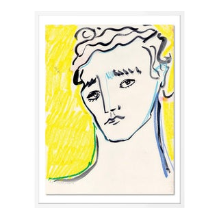 Portrait by Luke Edward Hall in White Frame, Medium Art Print For Sale