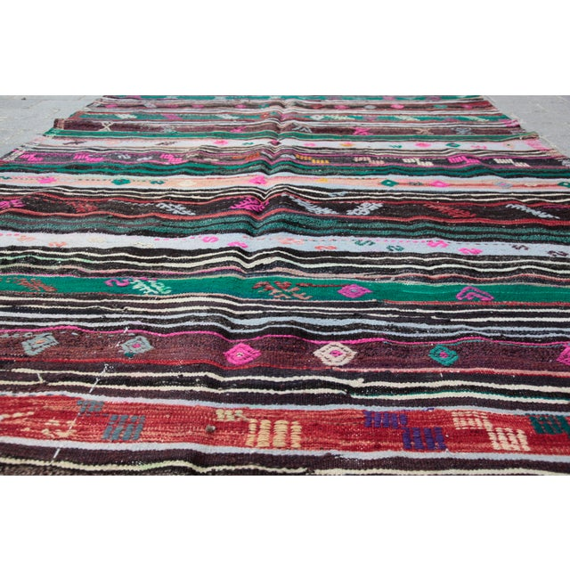 Turkish Kilim Rug - 8' 8'' X 5' 10'' For Sale In Baltimore - Image 6 of 11