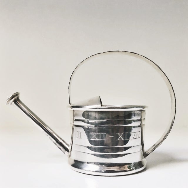 Metal 1947 Cartier Sterling Silver Watering Can Vermouth Dripper For Sale - Image 7 of 7