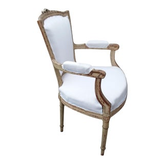 18th Century French Antique Armchair For Sale