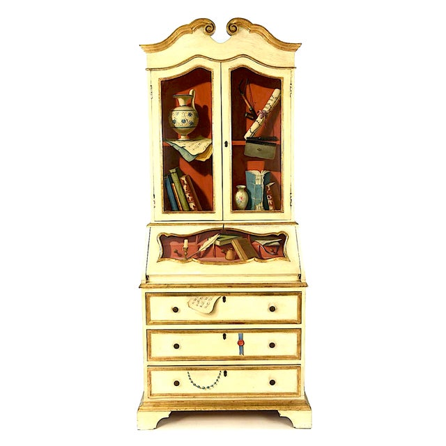 20th Century French Maison Jansen Hand Painted Secretary Desk For Sale - Image 12 of 12