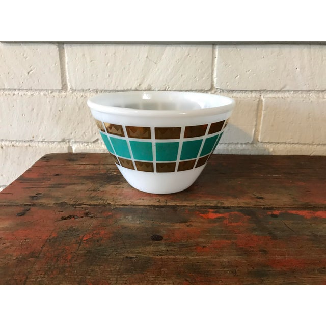 Mid-Century Modern 1950's Fred Press Fire King Bowl For Sale - Image 3 of 11