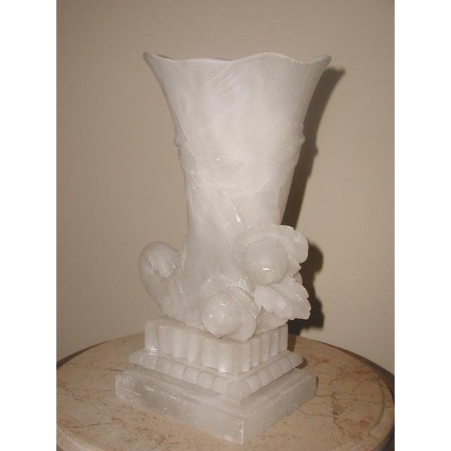 Alabaster Cornucopia Vase C.1900 - Image 4 of 10